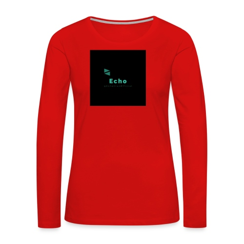 Echo Clan Offical Logo Merch - Women's Premium Long Sleeve T-Shirt