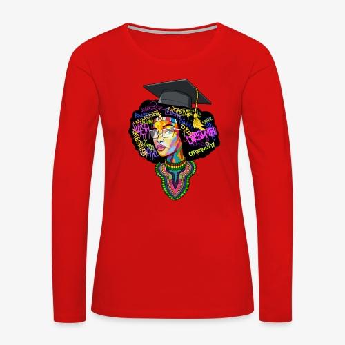 Melanin Women Afro Education - Women's Premium Long Sleeve T-Shirt
