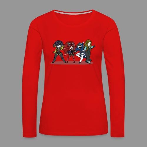 Chibi Autoscorers - Women's Premium Slim Fit Long Sleeve T-Shirt