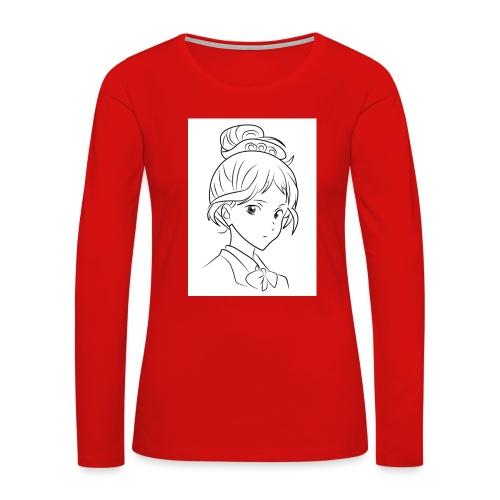 Girl - Women's Premium Slim Fit Long Sleeve T-Shirt