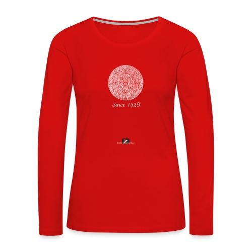 Since 1428 Aztec Design! - Women's Premium Slim Fit Long Sleeve T-Shirt