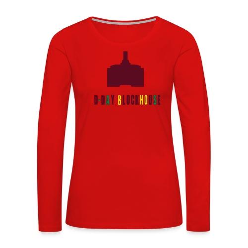 D-Day Blockhouse - Women's Premium Slim Fit Long Sleeve T-Shirt