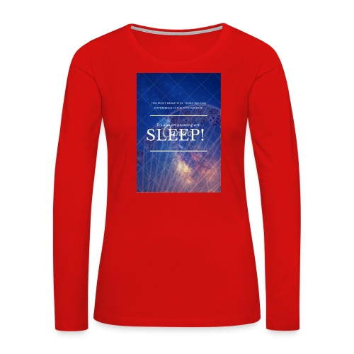 Sleep Galaxy by @lovesaccessories - Women's Premium Long Sleeve T-Shirt