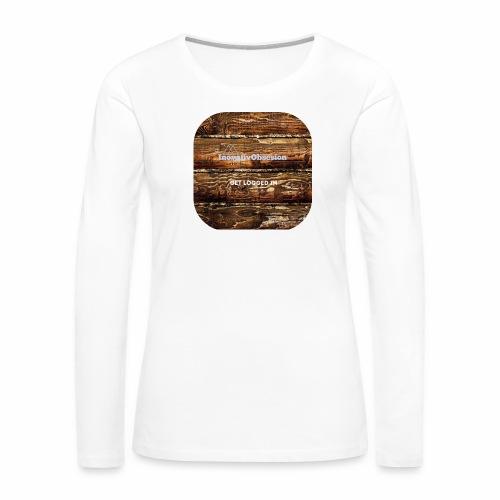 "InovativObsesion ""LOGGED IN"" apparel - Women's Premium Long Sleeve T-Shirt"