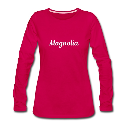 Magnolia Abstract Design. - Women's Premium Long Sleeve T-Shirt
