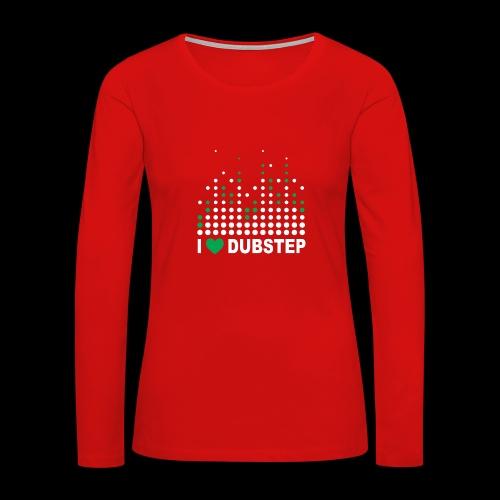 I heart dubstep - Women's Premium Long Sleeve T-Shirt