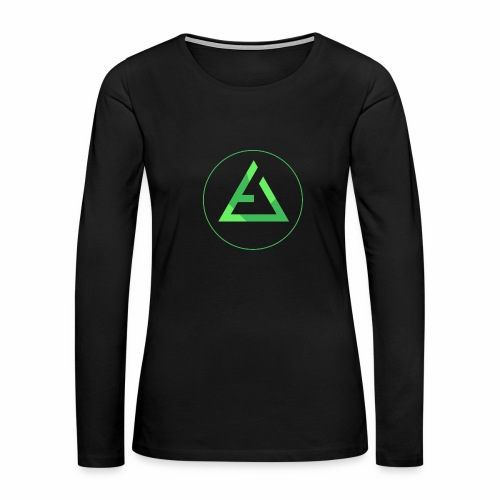 crypto logo branding - Women's Premium Long Sleeve T-Shirt