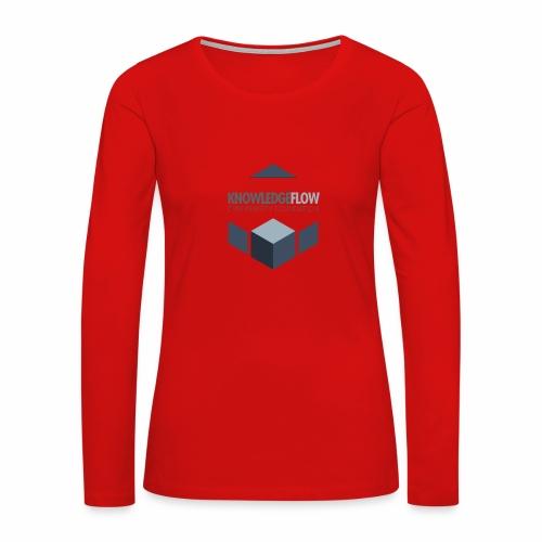 KnowledgeFlow Cybersafety Foundation - Women's Premium Slim Fit Long Sleeve T-Shirt