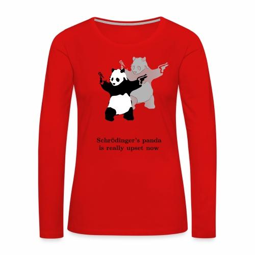 Schrödinger's panda is really upset now - Women's Premium Long Sleeve T-Shirt