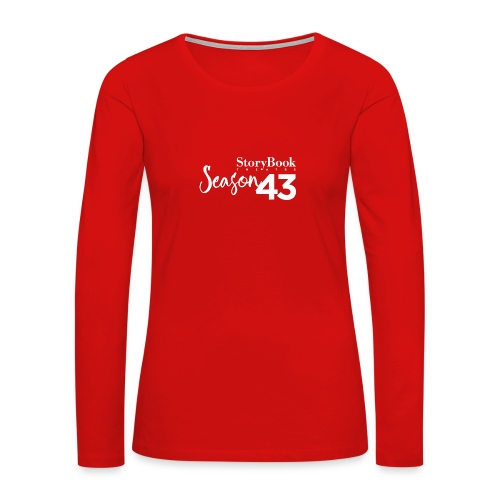 SBT43 Season43 LOGO WHT - Women's Premium Long Sleeve T-Shirt