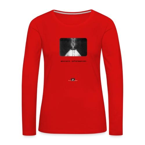 'Ancient Information' - Women's Premium Slim Fit Long Sleeve T-Shirt