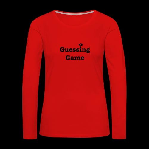 Question - Women's Premium Long Sleeve T-Shirt