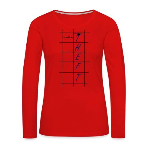 Taxation is Theft Crossword - Women's Premium Slim Fit Long Sleeve T-Shirt