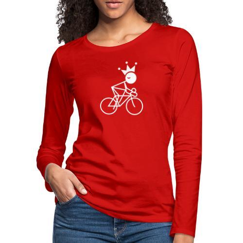 Winky Cycling King - Women's Premium Slim Fit Long Sleeve T-Shirt