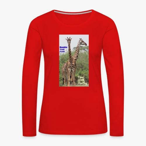 Two Headed Giraffe - Women's Premium Long Sleeve T-Shirt