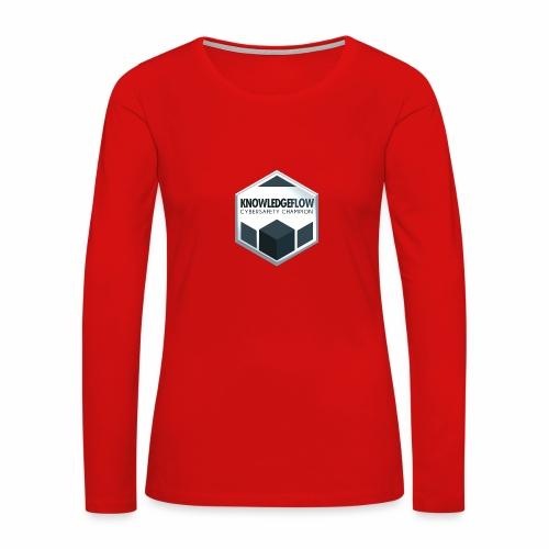 KnowledgeFlow Cybersafety Champion - Women's Premium Slim Fit Long Sleeve T-Shirt
