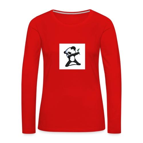 Panda DaB - Women's Premium Slim Fit Long Sleeve T-Shirt