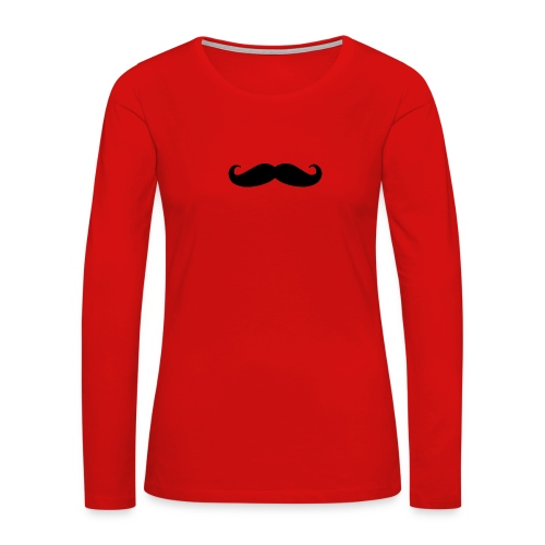 mustache - Women's Premium Long Sleeve T-Shirt