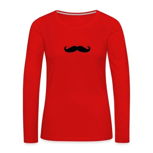 mustache - Women's Premium Long Sleeve T-Shirt