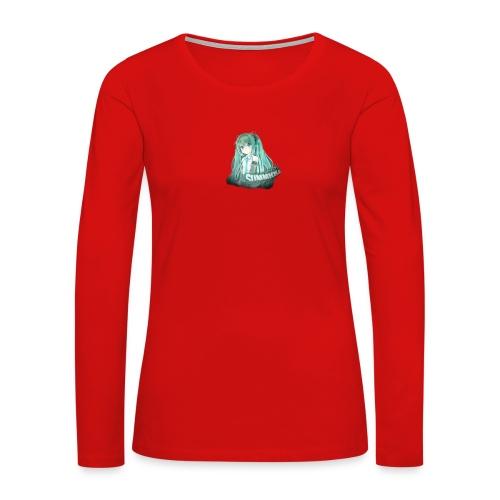 Summrrz Logo Transparent - Women's Premium Slim Fit Long Sleeve T-Shirt