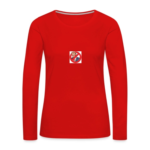blog stop trump - Women's Premium Slim Fit Long Sleeve T-Shirt