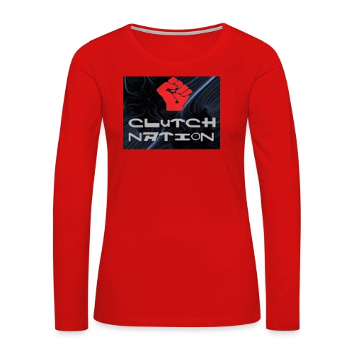 clutchnation logo merch - Women's Premium Long Sleeve T-Shirt