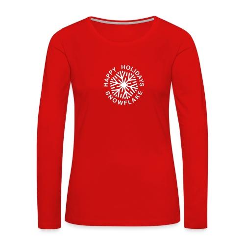 Happy Holidays Snowflake - Women's Premium Slim Fit Long Sleeve T-Shirt