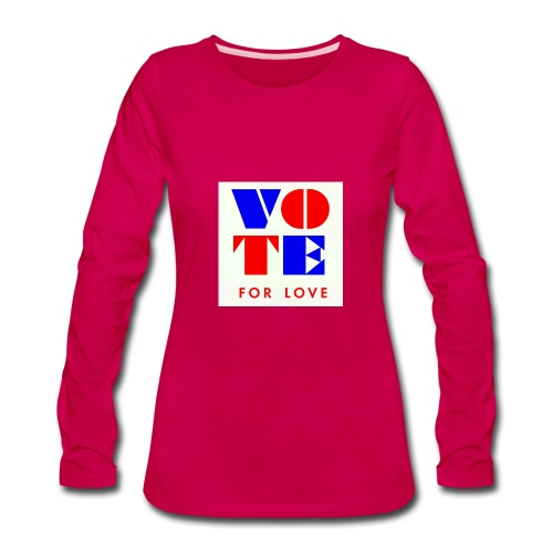 vote4love-sample - Women's Premium Long Sleeve T-Shirt