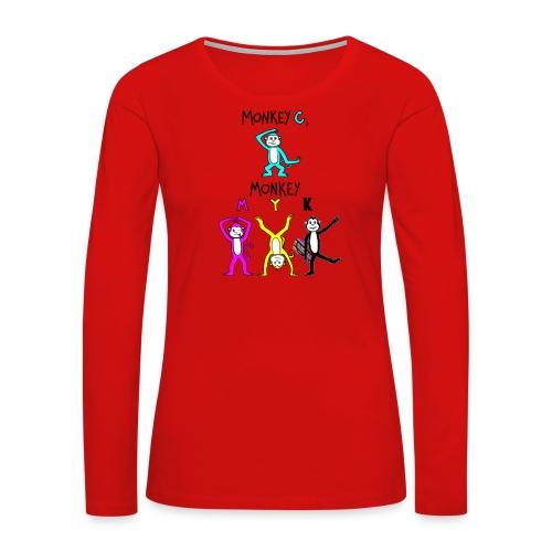 monkey see myk - Women's Premium Long Sleeve T-Shirt