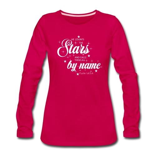 Psalm 147:4 - Women's Premium Long Sleeve T-Shirt