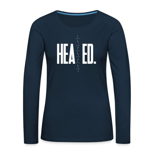 Healed - Women's Premium Slim Fit Long Sleeve T-Shirt