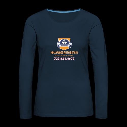 CLASSIC CARS! CLASSIC HOLLYWOOD! - Women's Premium Slim Fit Long Sleeve T-Shirt