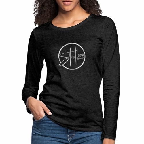 White Logo - Women's Premium Long Sleeve T-Shirt