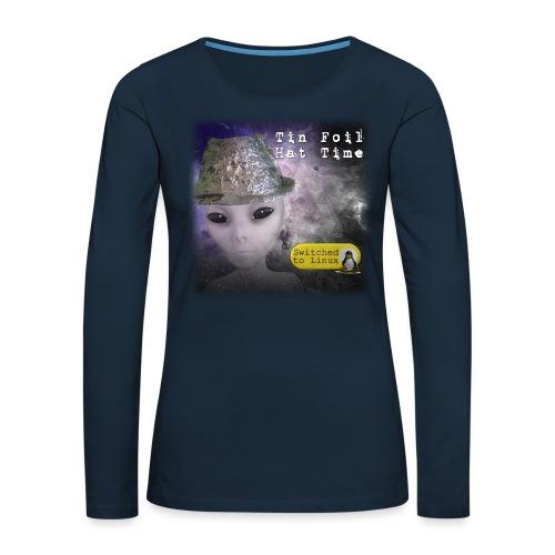 Tin Foil Hat Time (Space) - Women's Premium Slim Fit Long Sleeve T-Shirt
