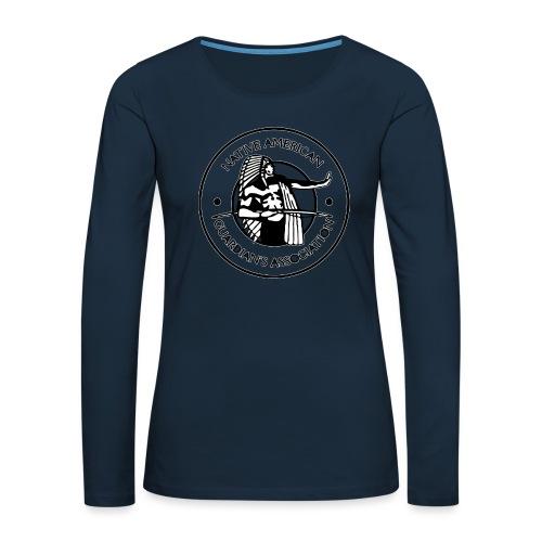 Naga LOGO Outlined - Women's Premium Slim Fit Long Sleeve T-Shirt