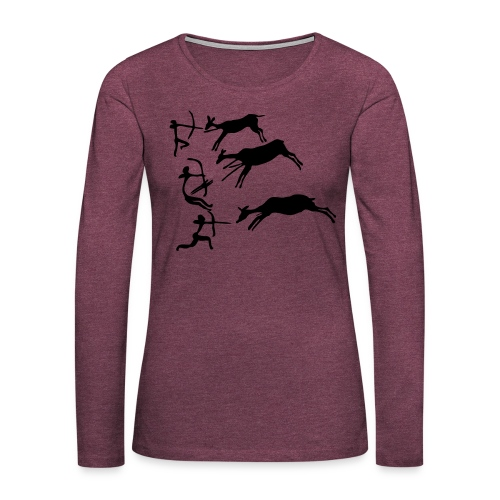 Lascaux Cave Painting - Women's Premium Long Sleeve T-Shirt