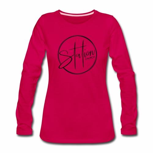 Black Logo - Women's Premium Slim Fit Long Sleeve T-Shirt