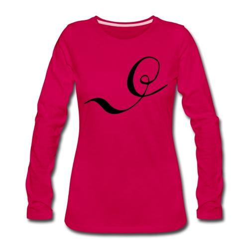 Letter D - Women's Premium Long Sleeve T-Shirt