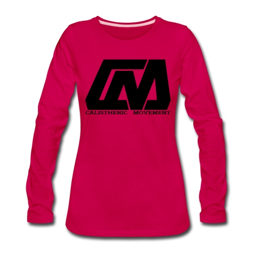 Cali Move Front black women - Women's Premium Slim Fit Long Sleeve T-Shirt