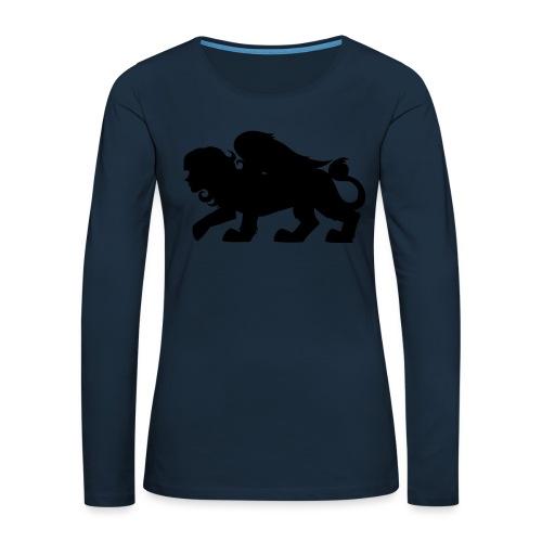 Sphynx Silhouette - Women's Premium Slim Fit Long Sleeve T-Shirt