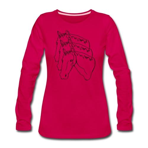 horsey pants - Women's Premium Slim Fit Long Sleeve T-Shirt
