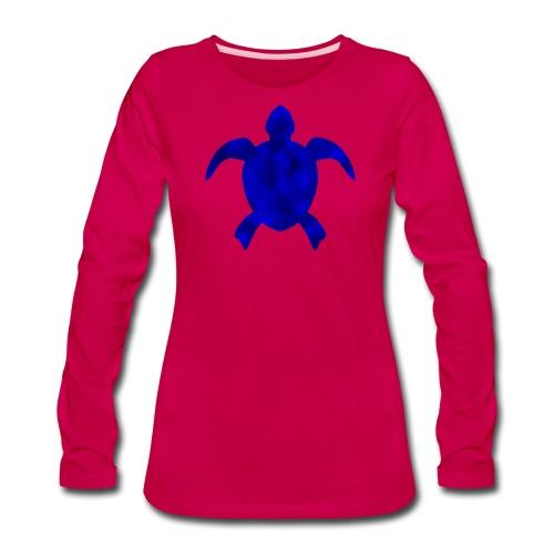 Sea turtle blue - Women's Premium Long Sleeve T-Shirt