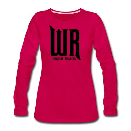 Wachler Records Dark Logo - Women's Premium Slim Fit Long Sleeve T-Shirt