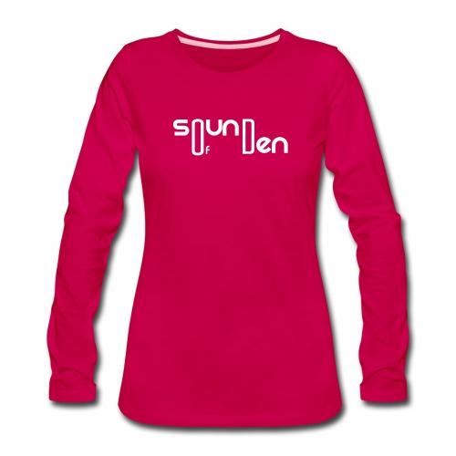 Soundofden The white classical Logo - Women's Premium Slim Fit Long Sleeve T-Shirt