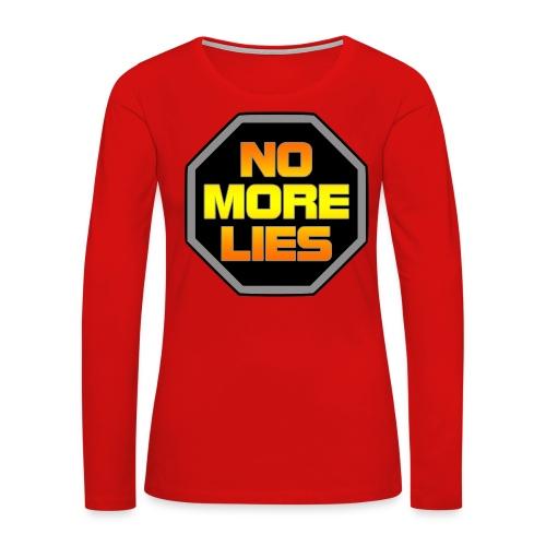 stopp no more lies - Women's Premium Slim Fit Long Sleeve T-Shirt