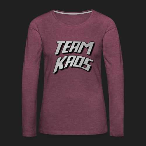 teamkaossteel4k png - Women's Premium Long Sleeve T-Shirt