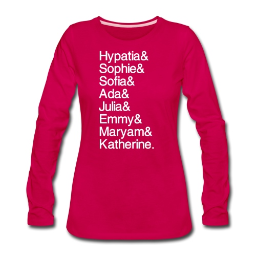 Women in Mathematics (no space before &) - Women's Premium Long Sleeve T-Shirt