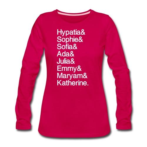 Women in Mathematics (no space before &) - Women's Premium Slim Fit Long Sleeve T-Shirt