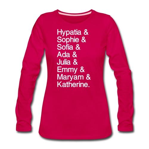 Women in Mathematics (with space before &) - Women's Premium Long Sleeve T-Shirt