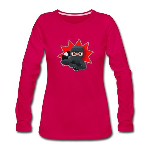 MERACHKA ICON LOGO - Women's Premium Slim Fit Long Sleeve T-Shirt